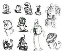 very simple robot sketches yet very effective robots pinterest