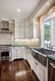 kitchen wood flooring ideas 30 spectacular white kitchens with wood floors home garden