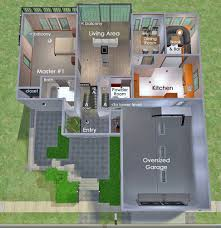 4 Bedroom Split Level Floor Plans Mod The Sims Split Level On A Sloped Lot With 4 Bedrooms And