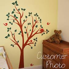 birds nests in tree wall sticker by parkins interiors