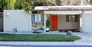 exterior mid century modern homes exterior design ideas with red
