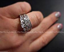 three ring wedding set three simulated engagement wedding ring sets ebay