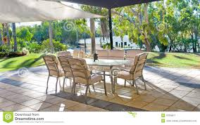 tropical backyard garden setting stock image image 10306611