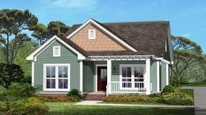 House Plans Craftsman Small House With Ranch Style Porch Small House Plans Craftsman