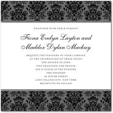 formal invitation formal invitations square white grey black glamorous floral