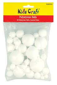 polystyrene balls 40 in assorted sizes amazon co uk office