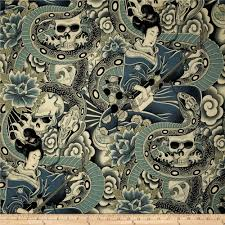 Home Decor Print Fabric Zen Charmer Floral Blue Green Discount Designer Fabric Fabric Com