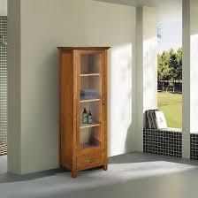 Linen Cabinets Avery Linen Cabinet With 1 Door Oil Oak Brown Elegant Home