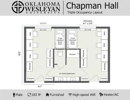 dorm room floor plans housing information residential oklahoma wesleyan university