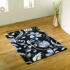 Modern Rugs Co Uk Review by Infinate Damask Black Grey Rug Quality Rugs At Affordable Prices