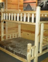 Hand Made Bunk Beds by Timberjack Handmade Log Bunk Bed Kit Wood Bunk Bed Kit Log