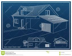 blueprint house house blueprint perspective stock illustration image 92293067