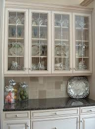 vintage glass front kitchen cabinets ideas on installing the best frosted glass cabinets in your