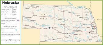 Washington Highway Map by Nebraska Highway Map