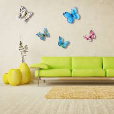 3d lifelike and double layer pvc butterfly for wall sales online