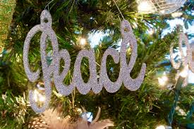 peace and themed ornaments peace word ornament in