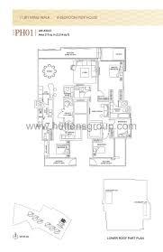 penthouse 4 bed thomson grand bedroom floor plans type ph01 loversiq