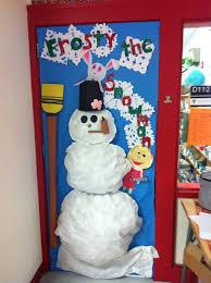 christmas office door decorating ideas snowman