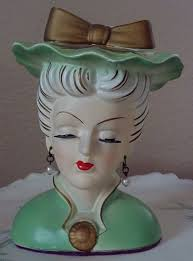 111 best head vases images on pinterest wall pockets doll head