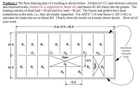 the floor framing plan of a building is shown belo chegg com