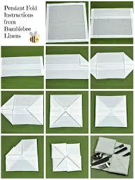 how to fold table napkins pendant fold napkin technique fold like an expert bumblebee linens