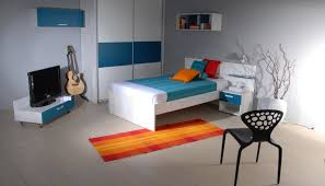 tidy teenage bedroom images with modern white blue white wardrobe