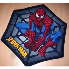 Superhero Rug Spiderman Rug Cool Superhero Spiderman Logo Bedroom Area Rug