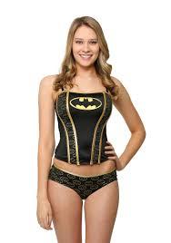 batman printed corset and panty set