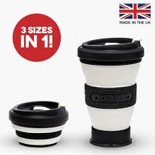 black collapsible coffee cup a reusable folding travel mug that