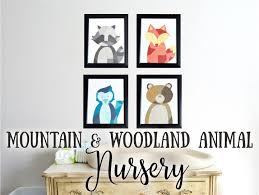 pnw mountain u0026 woodland animal themed nursery the diy lighthouse
