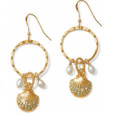 vire earrings aqua shores aqua shores shell wire earrings earrings