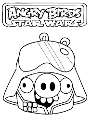 angry birds star wars pigs coloring pages printable coloring sheets