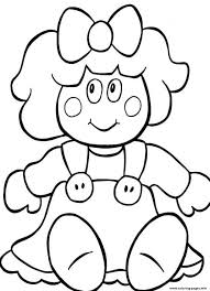 christmas doll for present54f2 coloring pages printable