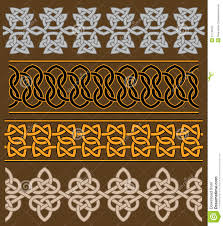 set of celtic ornaments stock vector image of cult graphic
