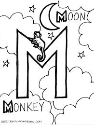 amazing design ideas m coloring pages letter to download and print