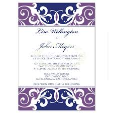 Blank Wedding Invitation Kits Purple U0026 Blue Wedding Invitation Kit U2013 Jordana Plum Diy Printable