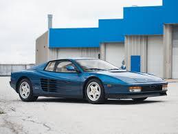 blue ferrari 1989 ferrari testarossa classic driver market