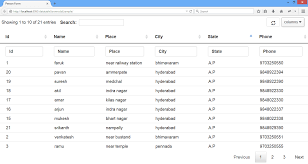 Bootstrap Data Table Datatable Server Side Processing Using Java Studywithdemo