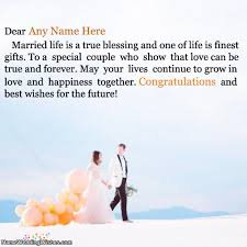 Wedding Wishes Online Editing Write Name On Wedding Wishes Cards Cakes Nameweddingwishes Com