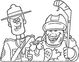 canadian hockey coloring pages hockey hockey