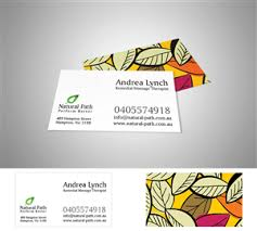 Sports Massage Business Cards Modern Upmarket Business Card Design For Natural Path By Mrp1nk