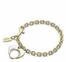 silver chain bracelet ebay images Coach bracelet ebay JPG
