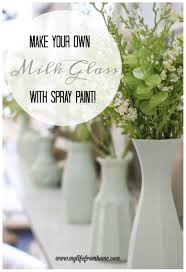 make your own milk glass with spray paint my life from home