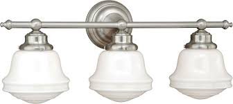 3 Light Bathroom Fixtures Vaxcel W0171 Huntley Satin Nickel 3 Light Bathroom Light Fixture
