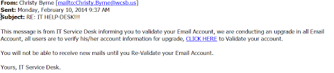 service desk email exles phishing exle 5 information technology security university of