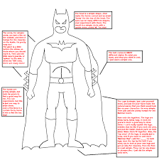 drawing batman template batmanfreak deviantart