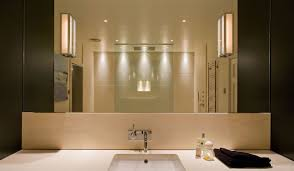 bathroom lighting fixtures transparent glass door brushed vanity
