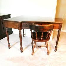 Office Works Corner Desk Stylish Vintage Corner Desk Within Ethan Allen And Chair