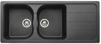 brico depot evier cuisine granit noir arber 2 cuves l 116 x l 50 x p 20 2 cm brico