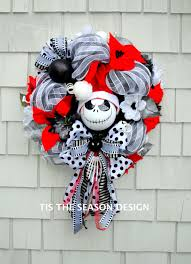 Halloween Door Wreaths Nightmare Before Christmas Wreath Jack Skellington Wreath